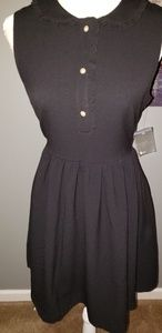 Tahari Womens Flare Dress Pockets! NWT 8 Black!